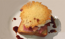 Ham and Cheese Open Face Sandwich