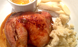 Roasted Chicken Orange Ginger Sauce