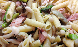 Pasta with Tuna Belly and Capers