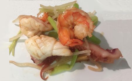 Cantonese Little Stir Fried with Shrimps and Squids 廣東海鮮小炒