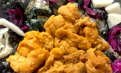 Uni (Sea Urchin) and Shrimp Bibimbap