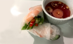 Vietnamese Shrimp Wraps with Shallot Dipping Sauce
