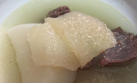Chinese Beef Shin, Pork Skin and Turnip Soup 牛腱豬皮蘿白湯