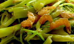 Stir Fry Water Spinach Shrimp Paste